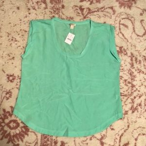 Jcrew Factory Scoop Neck Blouse